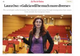 Interview Laura Oso in 'La Voz de la Galicia' on welcoming spaces in Spain